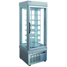 Rotary Ice Cream Display Freezer 4 Side Glass 7 Shelves