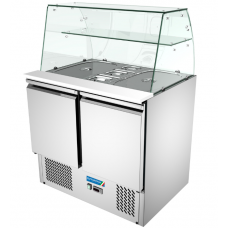 Counter Chiller 2 doortop With glass