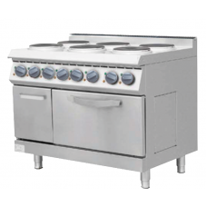 Electric 6 Hot Plate Cooker with Max Oven