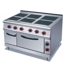 Electric 6 Hot Plate Cooker Square
