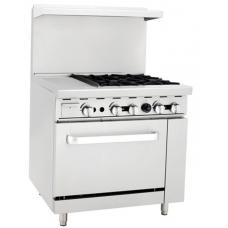 Gas Cooker 4 Burner With Griddle  - BAY-12G4B