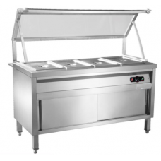 Bain Marie  6/GN Glass Top+ Cabinet