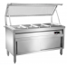 Bain Marie 5/GN Glass Top + Cabinet