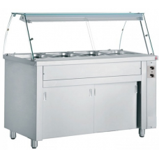 Bain Marie With Sense Grid & Hot Cabinet  (4/GN)