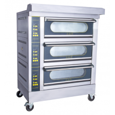 Electric Lamb Oven 3 Deck 6 Trays