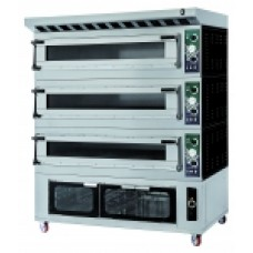 Electric Oven 3 Deck+Proofer Dual 6 Glass